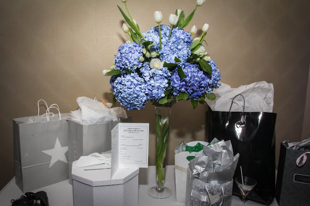 blue wedding, same sex wedding, hydrangea, tulip, escort table