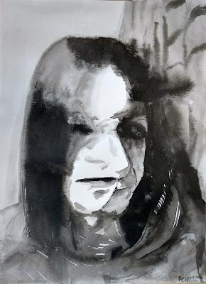retrato tinta china Benjamin Vilella Marina