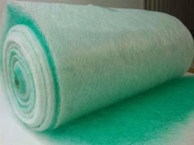 Bông lọc bụi sàn phòng sơn (Bông thuỷ tinh lọc bụi sơn)