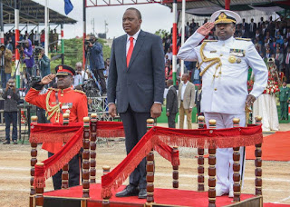 President Kenyatta on Madaraka day celebrations 2017. PHOTO | PSCU