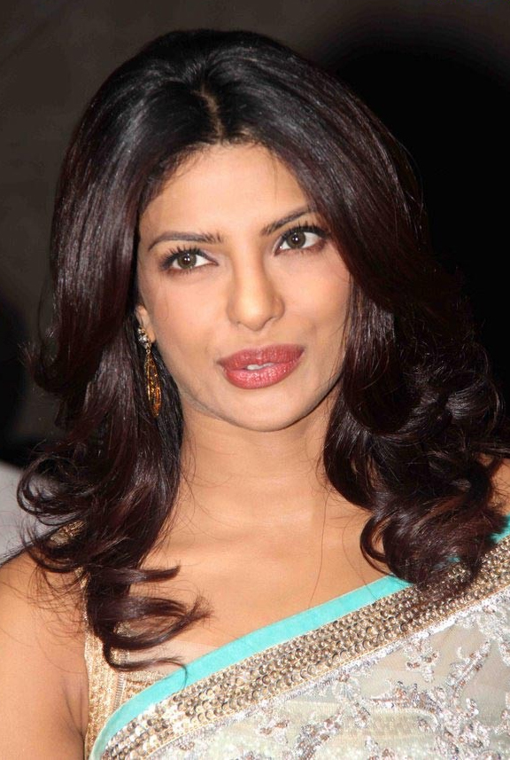Priyanka Chopra Hot Photos In Sky Blue Saree