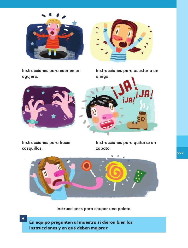 Los verbos en las instrucciones - Español 2do Bloque 5