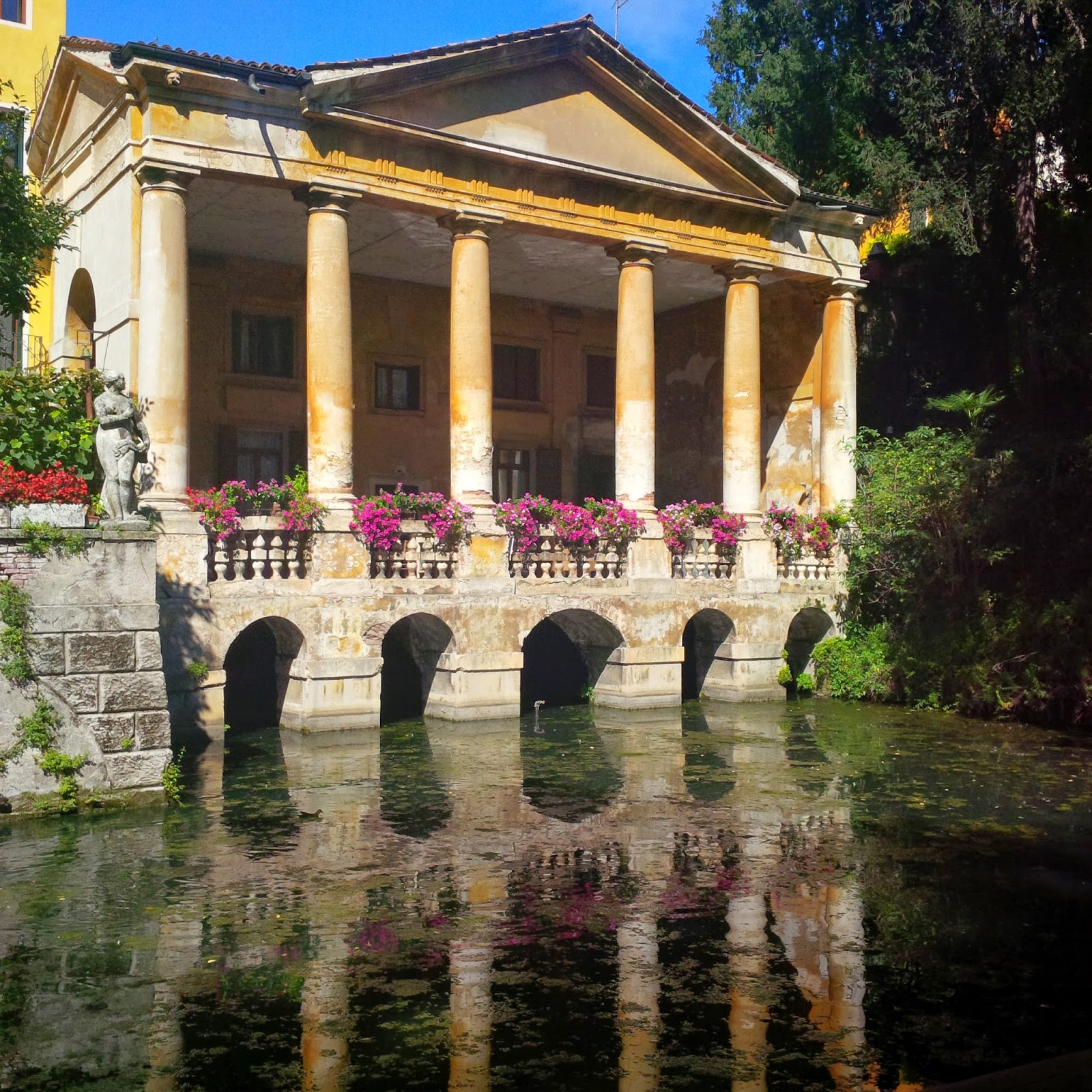 A building designed by Palladio in one of Vicenza's parks