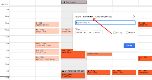 Launch of Reminders for Google Calendar on the web