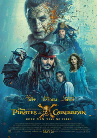 Poster of Pirates of the Caribbean: Dead Men Tell No Tales 2017 BRRip 720p Dual Audio In Hindi English ESub