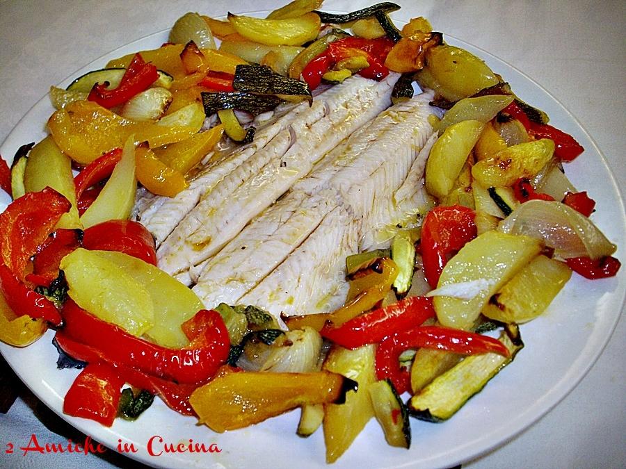 Trota al Forno con Verdure Estive  2 Amiche in Cucina