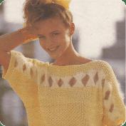 Jersey con lazos a Crochet