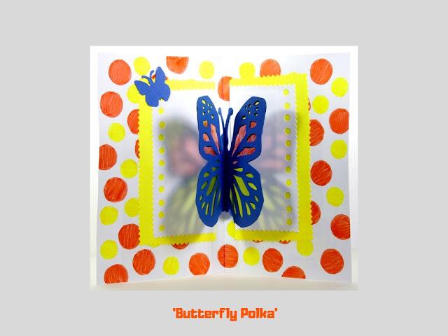 Butterfly Polka, pop up card by Minaz Jantz