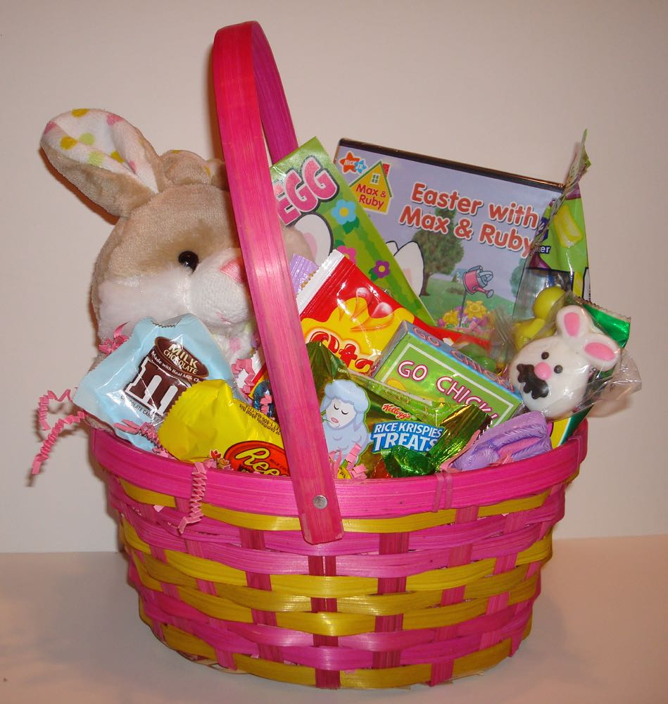 Oryans Village Candy Blog Easter Basket Filled With Candy And Toys