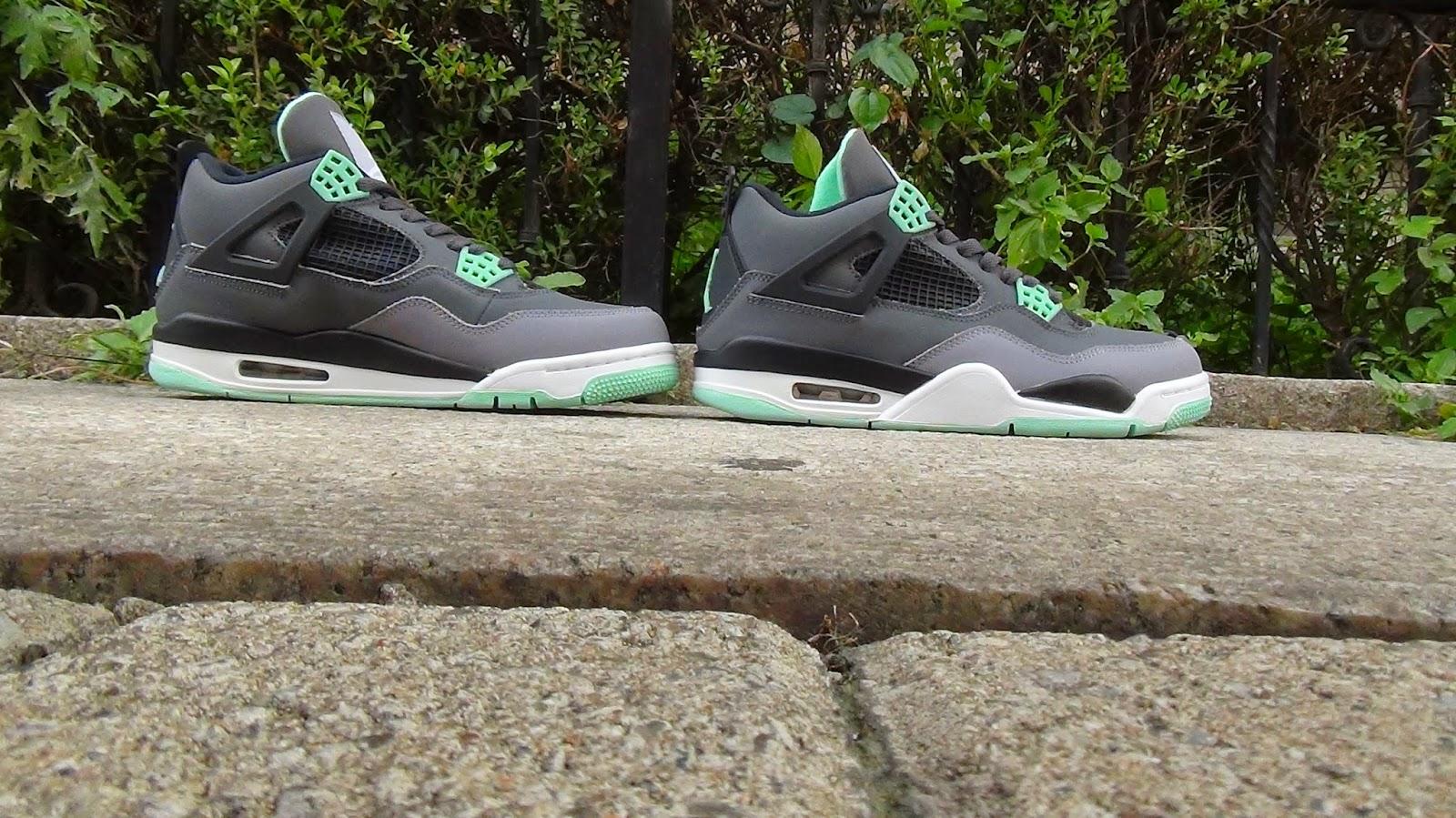 buy popular 2813a 9a209 repsperfect: Air Jordan Green Glow 4S Air Jordan 4 Green ...