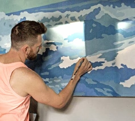 DIY art using opaque projector