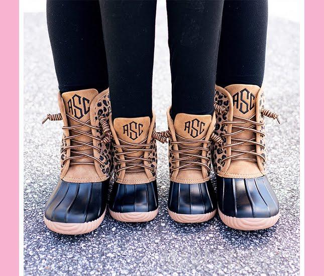 adult leopard duck boots, kids leopard duck boots