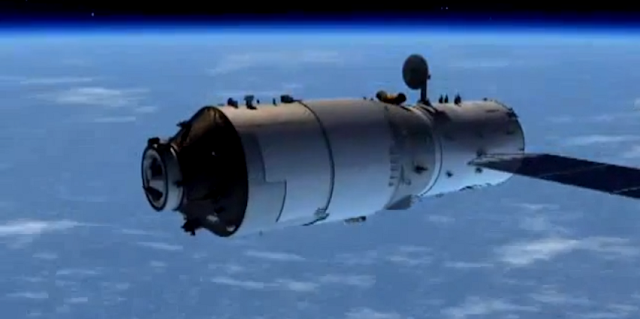 Artist's rendering of the Tiangong 2 module. Credit: CMS