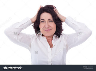 a menopausal woman experiencing some changes n her body