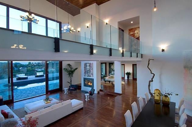 Picture of dinning and living rooms inside of Rihanna's house