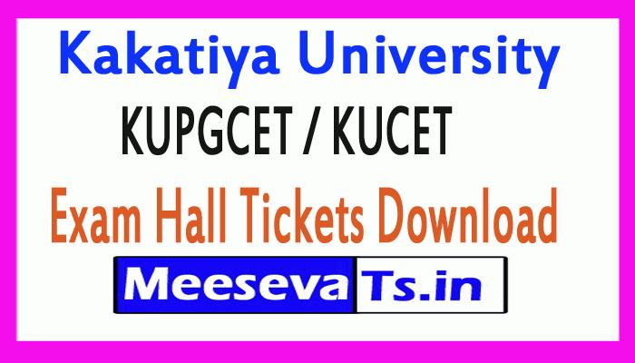 Kakatiya University KUPGCET / KUCET Exam Hall Tickets Download