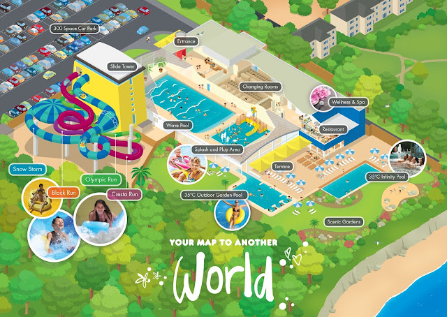 Alpamare Scarborough Waterpark Map