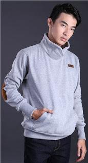 Sweater Cowok Kerah Berdiri Original GARSEL