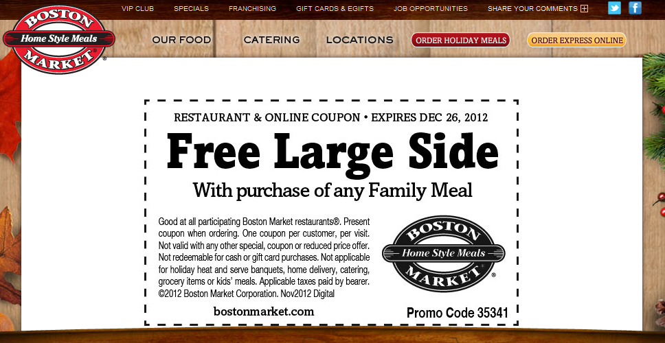 Order Ahead and Skip the Line at Boston Market. Place Orders Online or on your Mobile Phone.