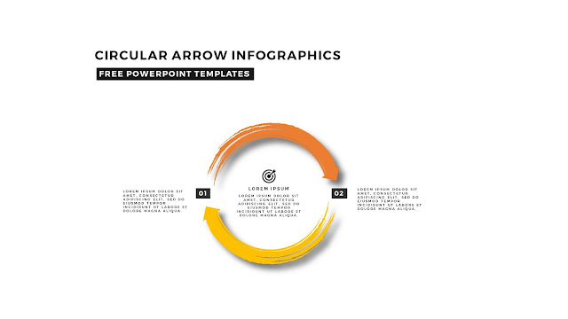 Circular Brush Stroke and Arrow Infographic Free PowerPoint Template Slide 5