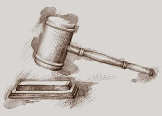 drawing of a gavel