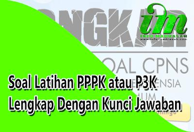 K merupakan kepanjangan dari penerimaan pegawai kontrak atau pegawai pemerintah dengan per Soal Latihan PPPK atau P3K Lengkap Dengan Kunci Jawaban