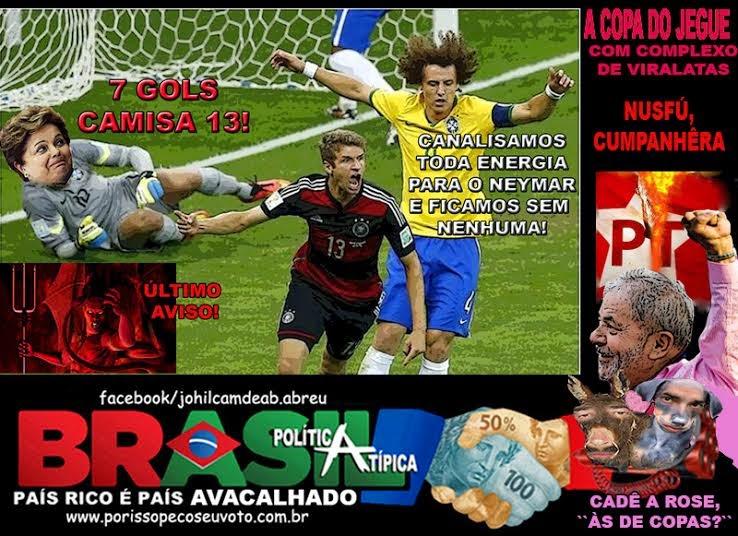 Vexame da Seleção Brasileira acaba com uso eleitoreiro que Dilma sonhava  fazer da Copa das Copas 485ffc5852739