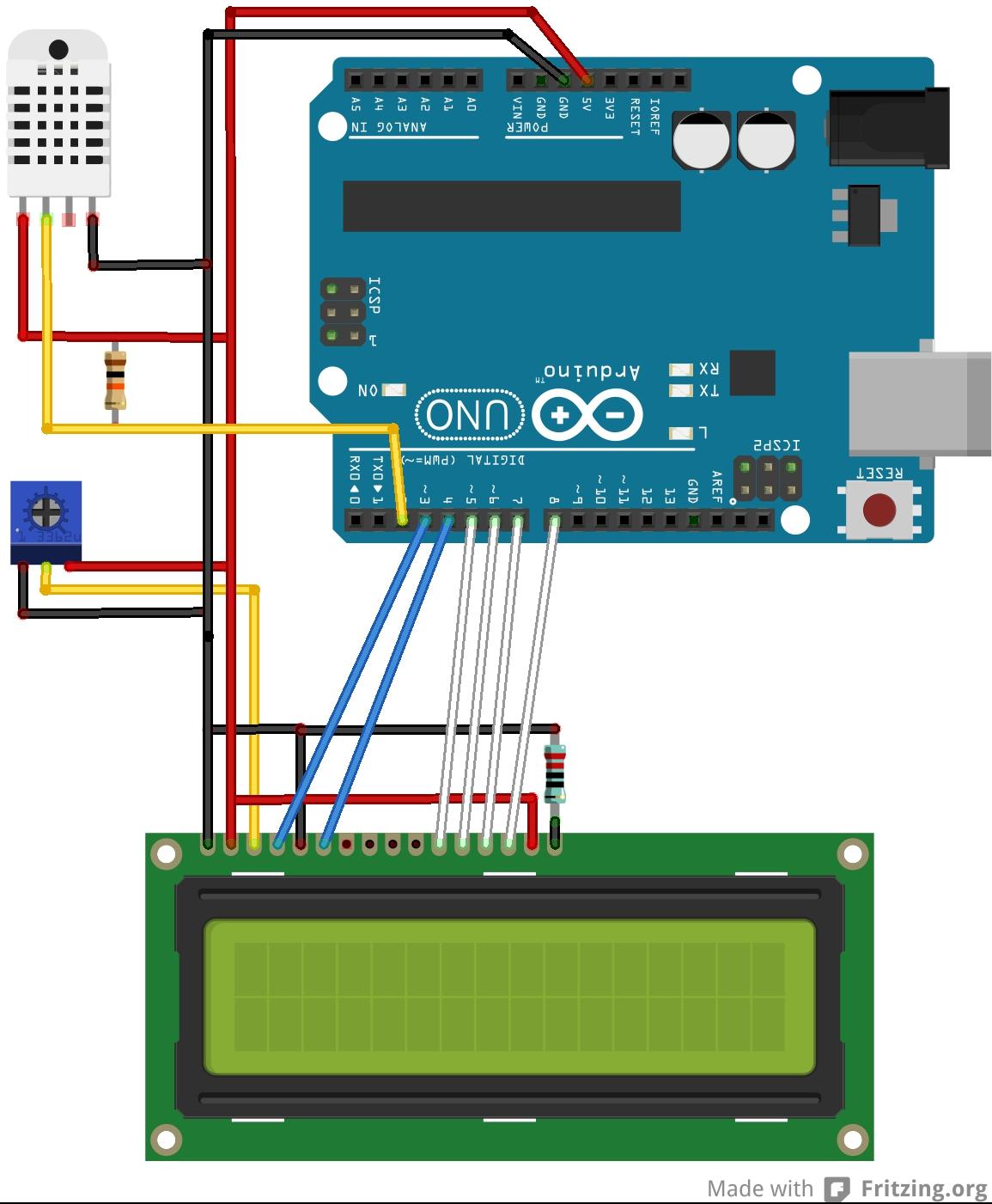 Arduino berri progetto temperatura e umidità su web
