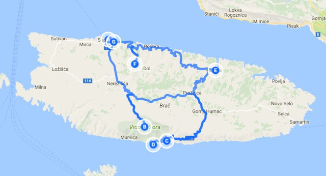 kroatia kartta roadtrip