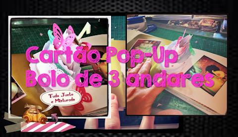 Cartão pop-up de bolo