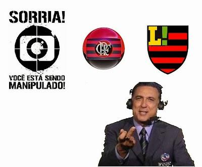Como a Flapress, Rede Globo à frente, cria uma manchete de um jogo do Botafogo e uma de jogo do Mengão