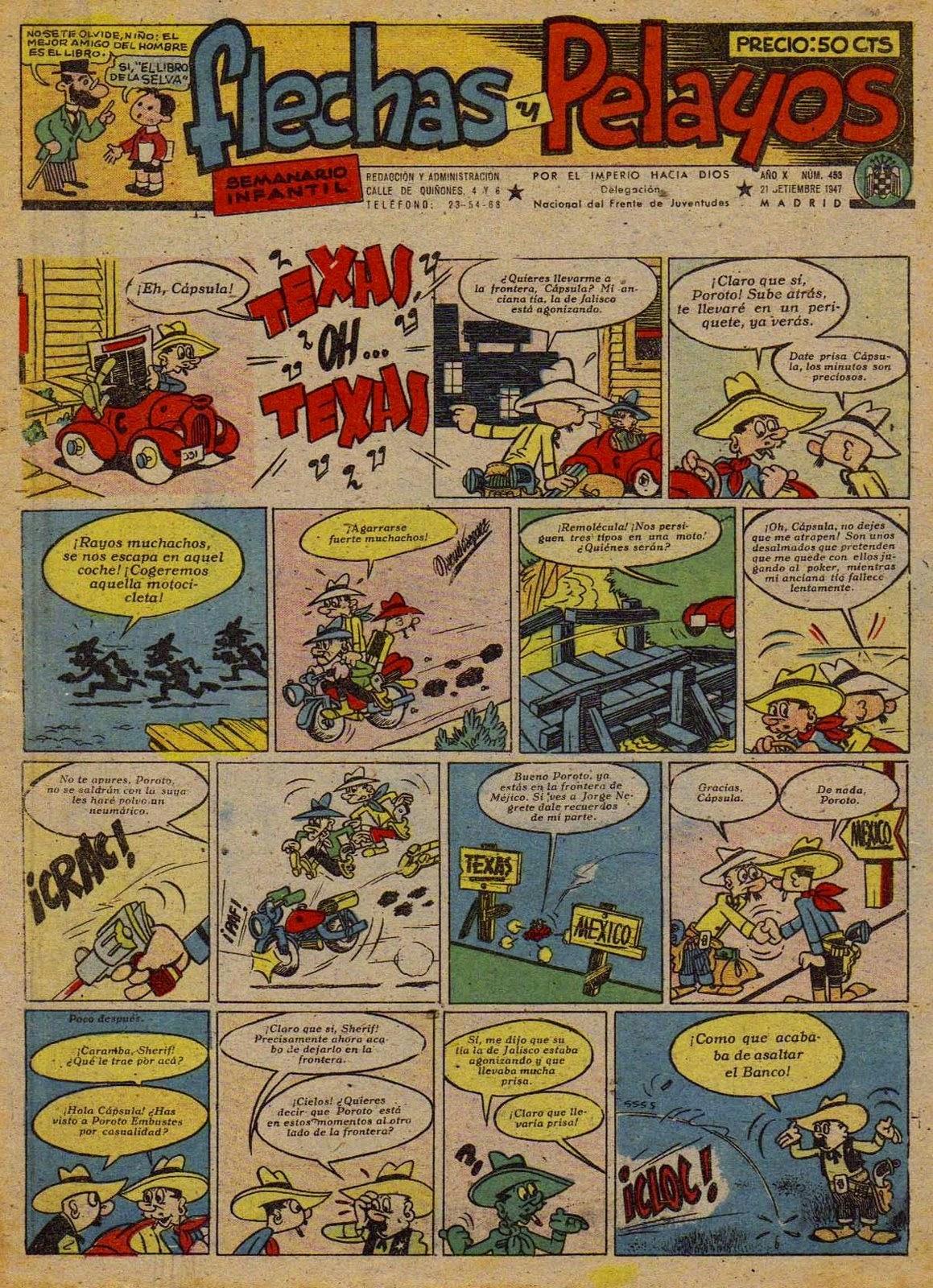 Portada con Capsula Bill, Flechas y Pelayos 483 (1947)