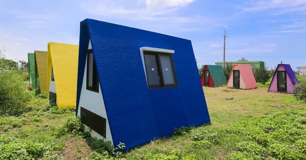 彰化線西|可築夢合掌屋|色彩繽紛小屋,就像台灣版彩色合掌村