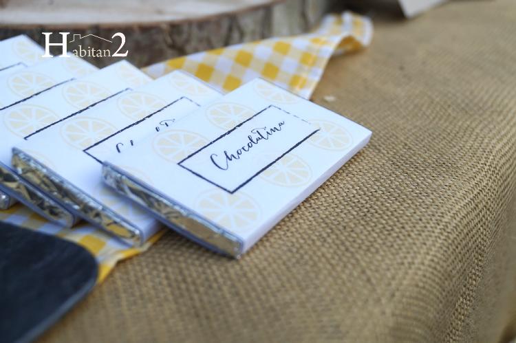 Chocolatinas personalizadas para candy bar diseño de Habitan2, decoración handmade para hogar y eventos