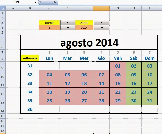Fare Un Calendario Con Excel.Excel Easy Excel Facile Come Fare Un Calendario 2017