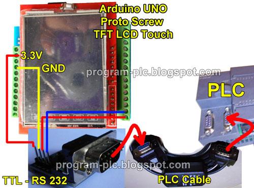 Plc mini lcd touch screen arduino