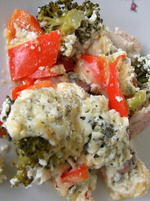 zapiekany kurczak z serem i brokułami