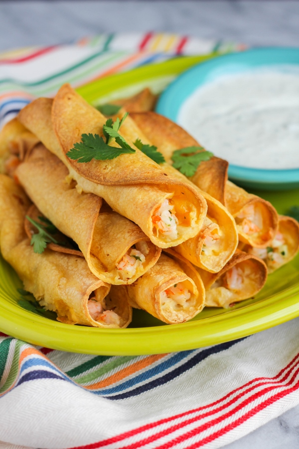 These Delicious Shrimp Taquitos Are Baked Not Fried And Full Of Incredible Flavor