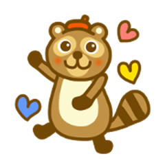 Daily raccoon dog sticker