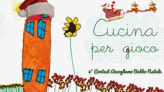 immagine del logo del secondo contest accogliamo babbo natale del blog Cucina per gioco