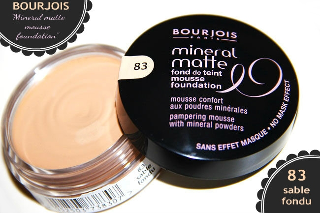 Bourjois Mineral matte mousse foundation in 83 sable fondu