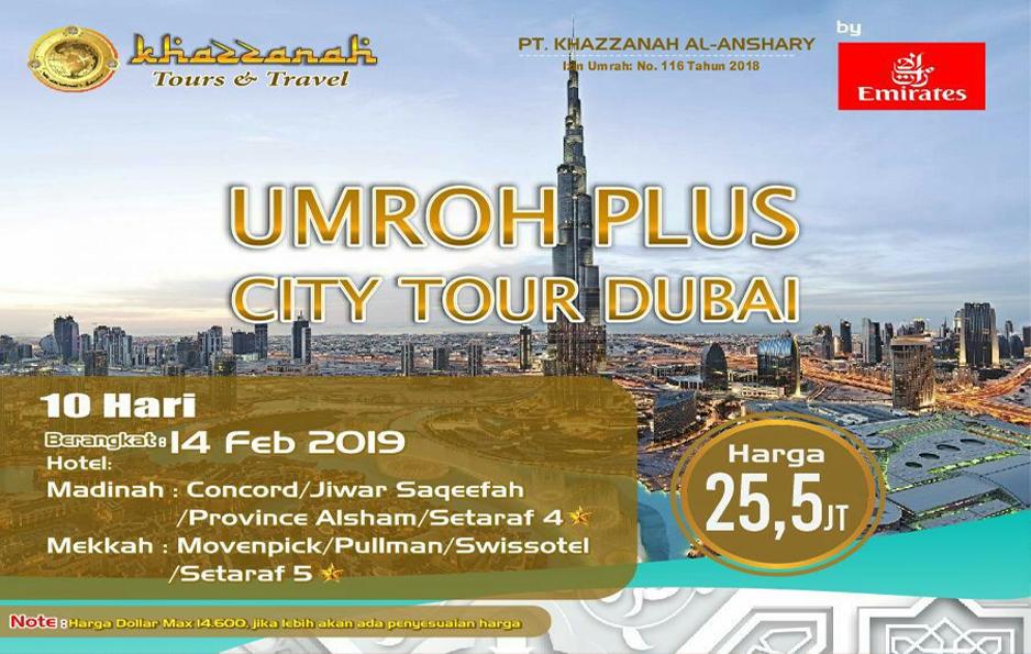 khazzanah tour umroh plus dubai 2019