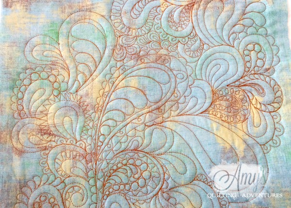 free motion quilting paisleys