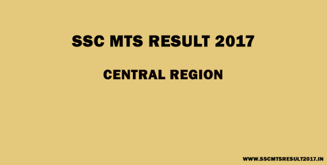 SSC MTS Central Region result