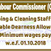 Sweeping & Cleaning Staff: V.D.A (Variable Dearness Allowance) and Minimum Wage