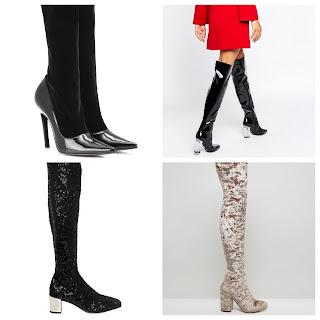 a modo de media, calcetín, leggins, pegada a la pierna como una segunda piel
