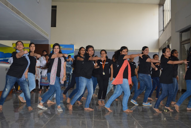Students of K. J. Somaiya College of Physiotherapy, Celebrate World Osteoporosis Day with a dance