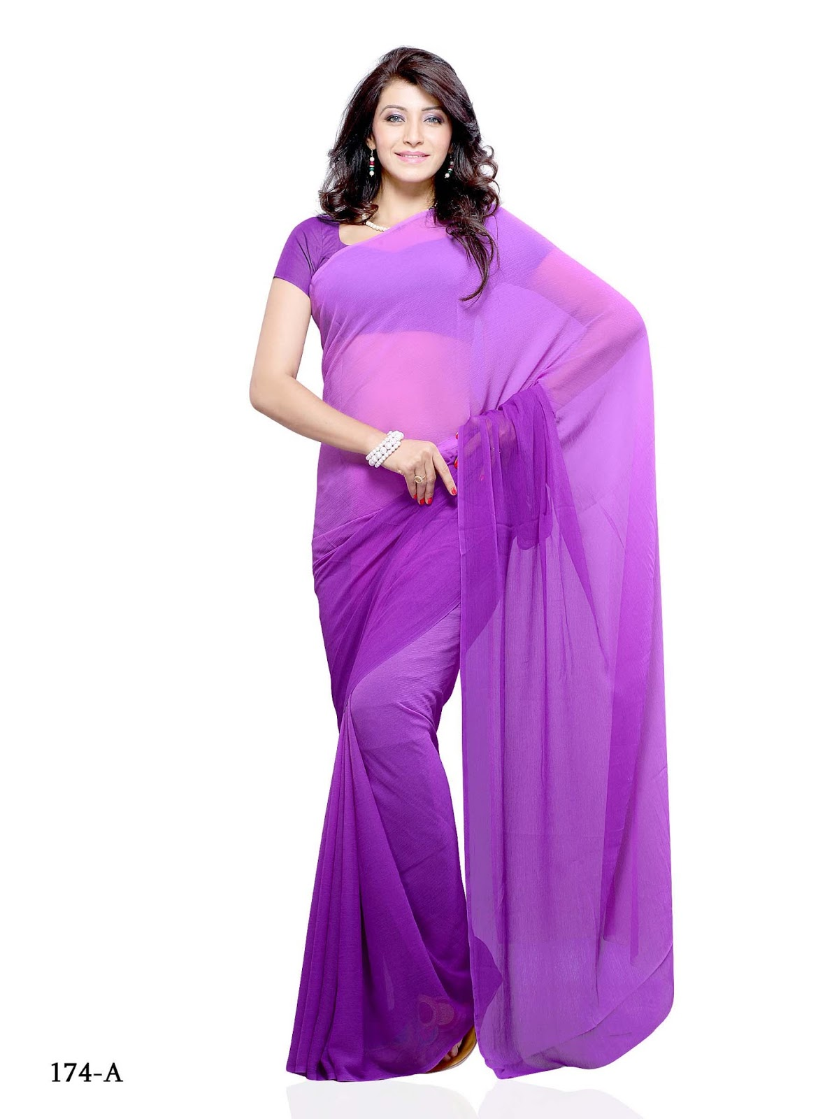 Double colour plain sarees online shopping