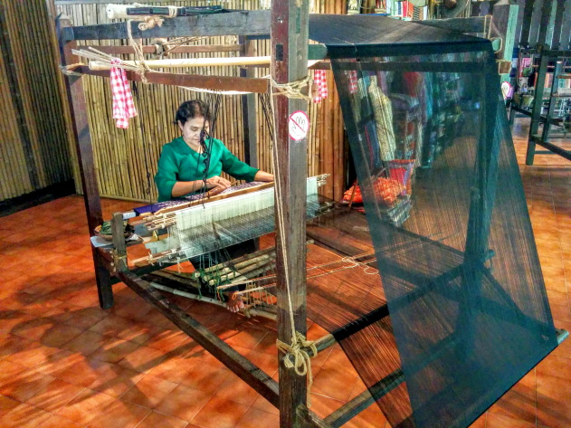 Traditional cloth weaving technique of Thailand