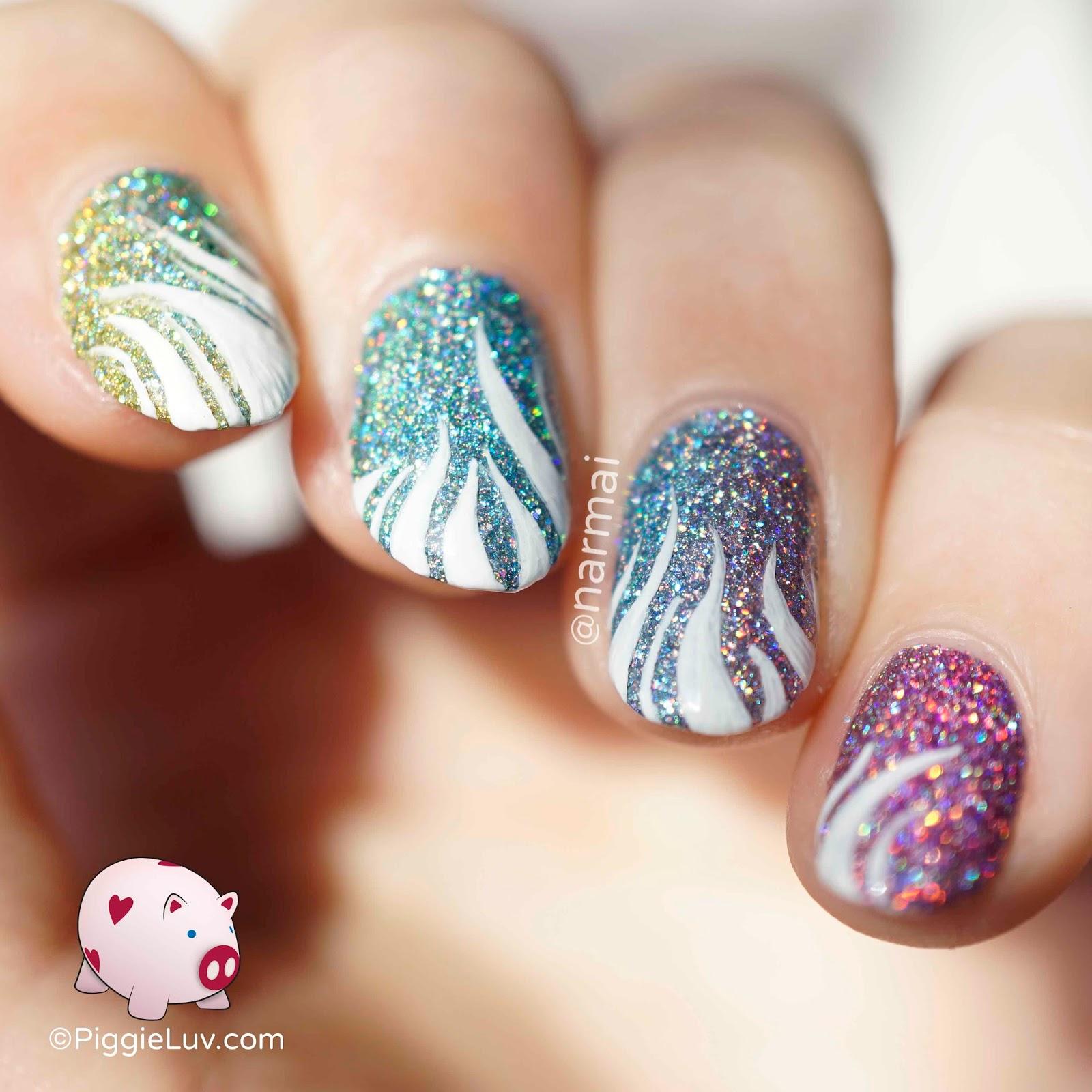 Gradient Nail Art: PiggieLuv: Dynomite Holo Rainbow Gradient Nail Art